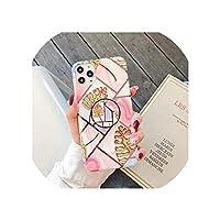 人気度ホルダースタンドメッキ大理石ケースiphone 11プロマックスXS XR X 7 8 6 S 6S裏表紙ファッションIMDシリコン電話Coque,For iphone 6 6S,3