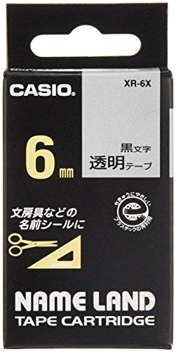 カシオ ラベルライター ネームランド テープ 6mm XR-6X 透明