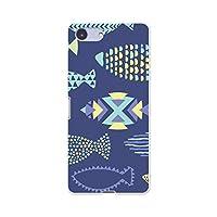 igcase Sony Xperia Ace SO-02L エクスペリア エース 専用 ソフトケース スマホカバー スマホケース ケース カバー tpu 010782 魚 シルエット 青