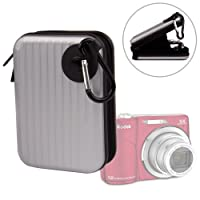 DURAGADGETシルバー耐衝撃性ハードメタルデジタルカメラCarryケースwithカラビナfor Kodak EasyShare c190、EasyShare c183、EasyShare c182& EasyShare c143+無料ギフト:手首ストラップWorth £ 4.99