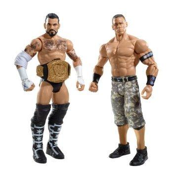 WWE CM Punk and John Cena Figure 2-Pack Series 17 おもちゃ [並行輸入品]
