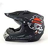 Fashion Winter Road Racing Motorcycle Safety Helmet Ghost Claw Cross Country Helmet Riding Safety Helmet Pretty (Color : Black1, Size : L)