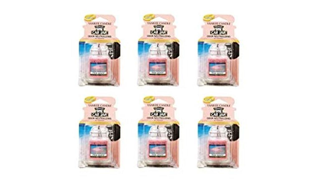 意図的アメリカ雑品ヤンキーキャンドル YCネオカージャー K32305147 ピンクサンド 6個入り