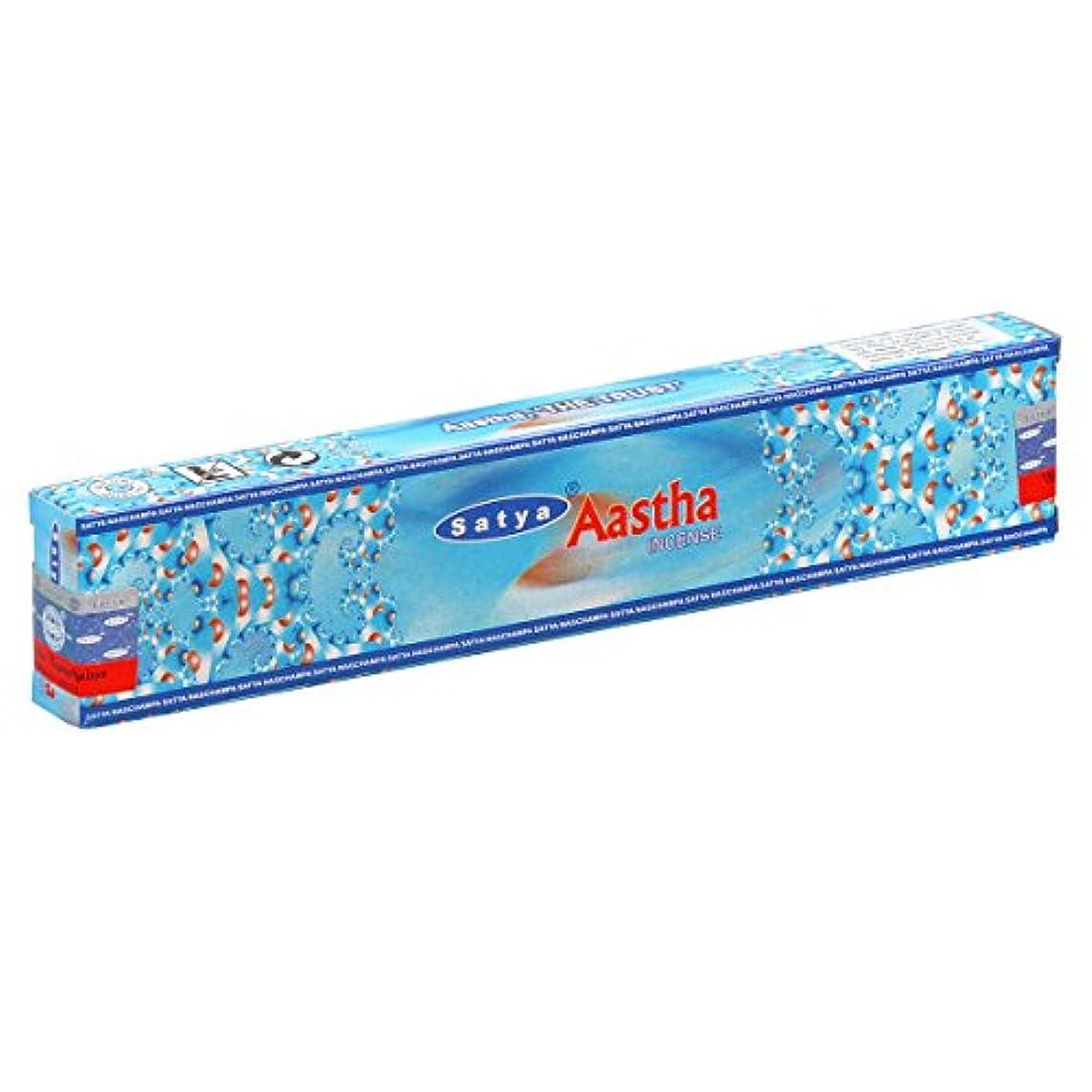 送ったキー背の高いSATYA(サティヤ) アースタ Aastha スティックタイプ お香 1箱 単品 [並行輸入品]