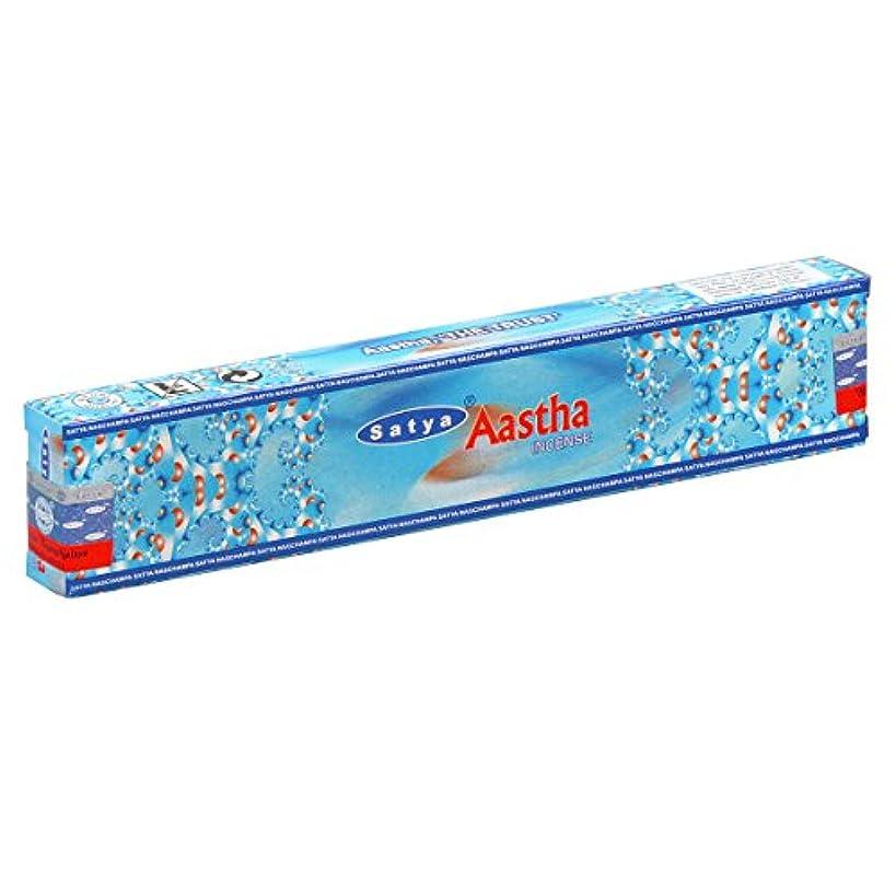 インフレーション息子経験的SATYA(サティヤ) アースタ Aastha スティックタイプ お香 1箱 単品 [並行輸入品]