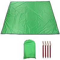 グランドシート テントマット キャンプマット 220 * 179cm 大型 防湿 防水 軽量 屋外 ピクニック キャンプ 砂浜 収納袋付き