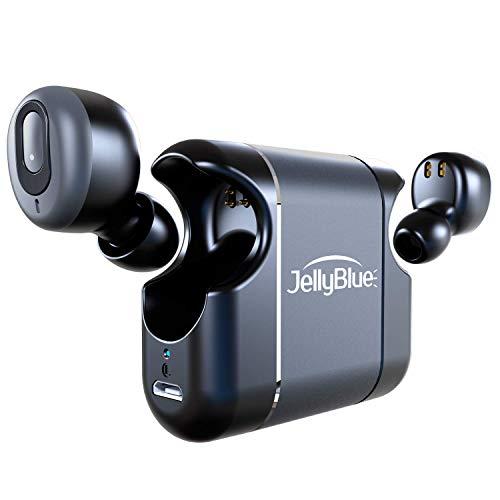 Bluetooth イヤホン 超軽量 高音質 手軽に持ち運べます IPX5防水 JellyBlue LT39 完全ワイヤレス イヤホン Siri/Googleアシスタント対応 自動ON/OFF 両耳通話 左右分離型 AAC対応 2台同時接続 最大18時間再生 ブラック 【メーカー1年保証付き】