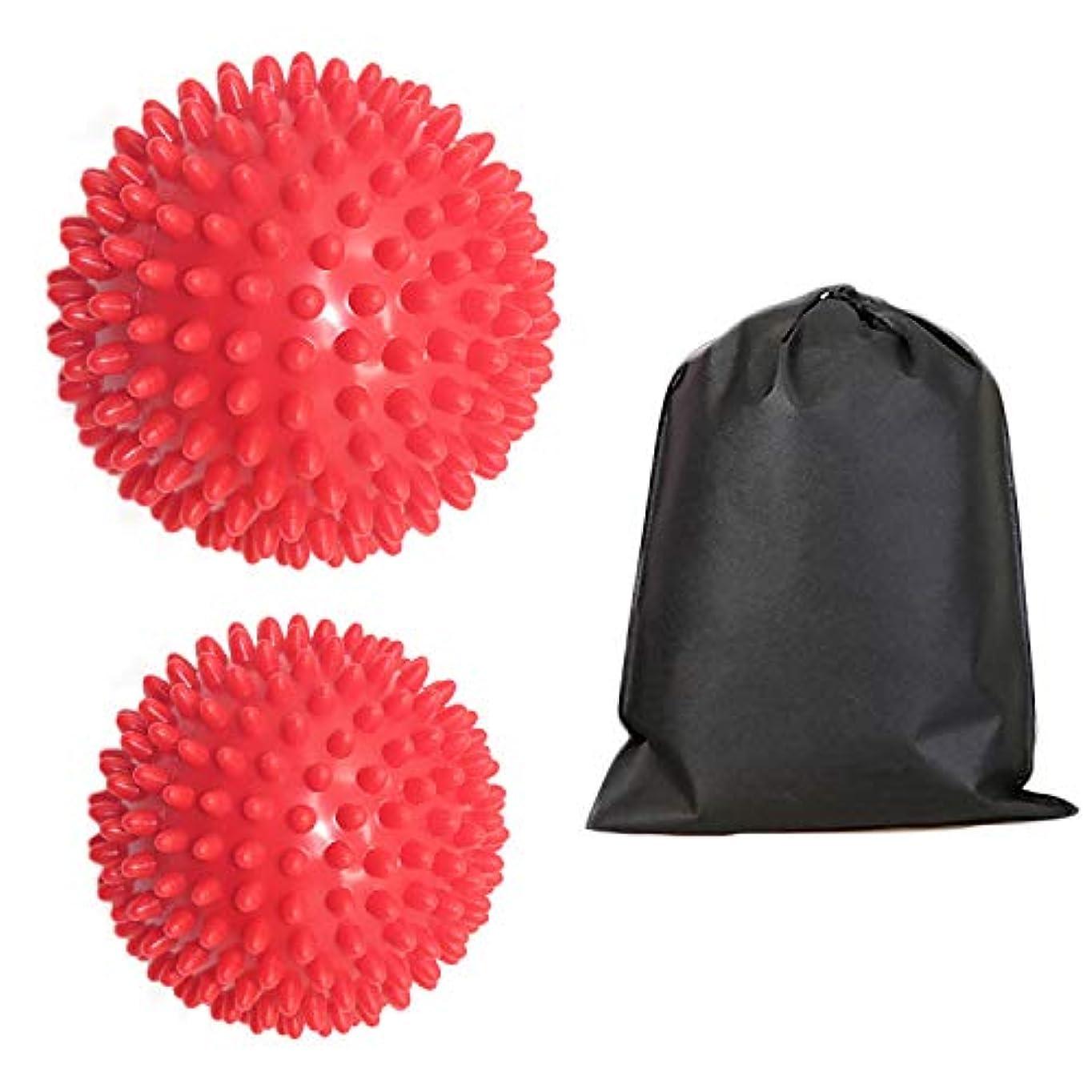 政権球状リクルートMigavan 2本足マッサージローラーマッサージボールローラー収納袋が付いている足のスパイクのマッサージのローラーボールのマッサージャー