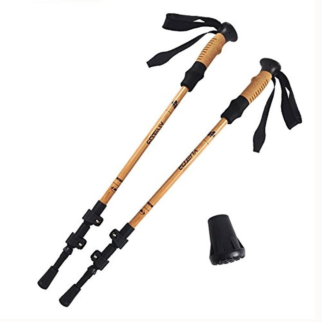 特殊リース残忍なアルミ3テレスコピックアウトドアトレッキングポールロックハイキングトレッキング杖登山棒65-135cm 2パック