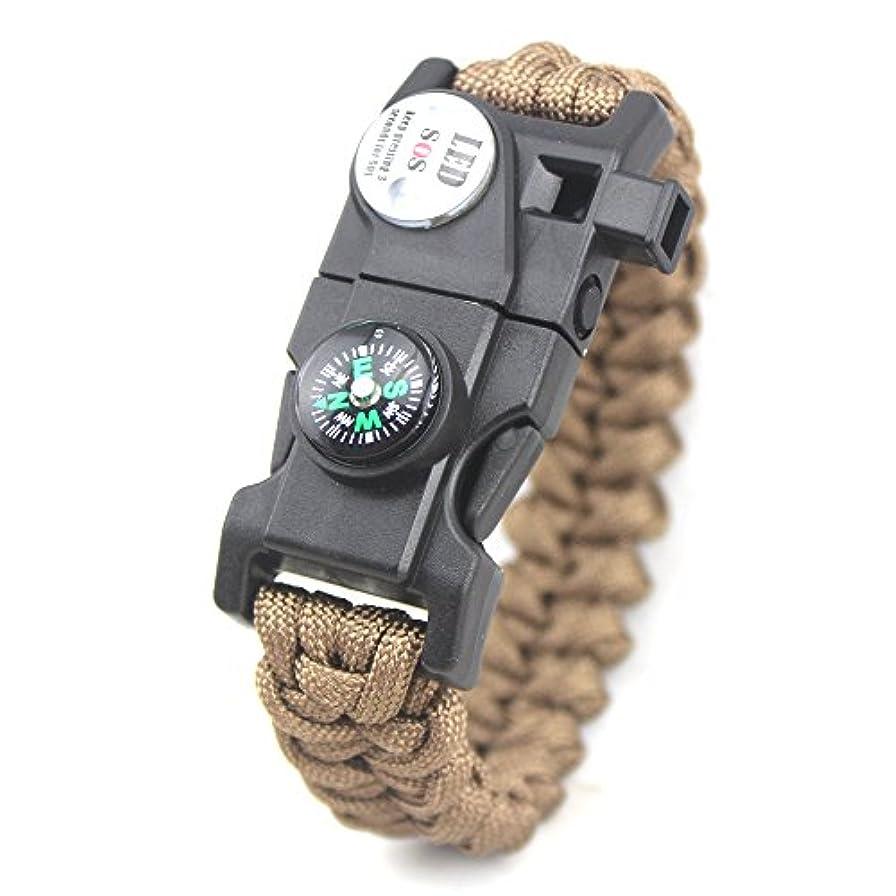 パンツ休憩するエンドウYAZILIND ユニセックス LED サバイバルブレスレットコンパス火呼吸笛