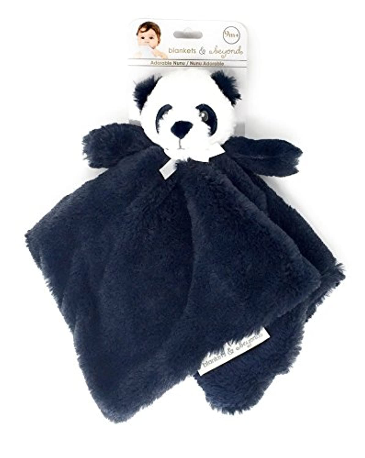 Blankets & Beyond Navy Blue Bear Lovey Security Blanket by Blankets and Beyond
