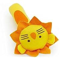 HuaQingPiJu-JP 1Pcベビーキッズクリエイティブハンドのおもちゃソフトぬいぐるみラトル教育玩具(ライオン)