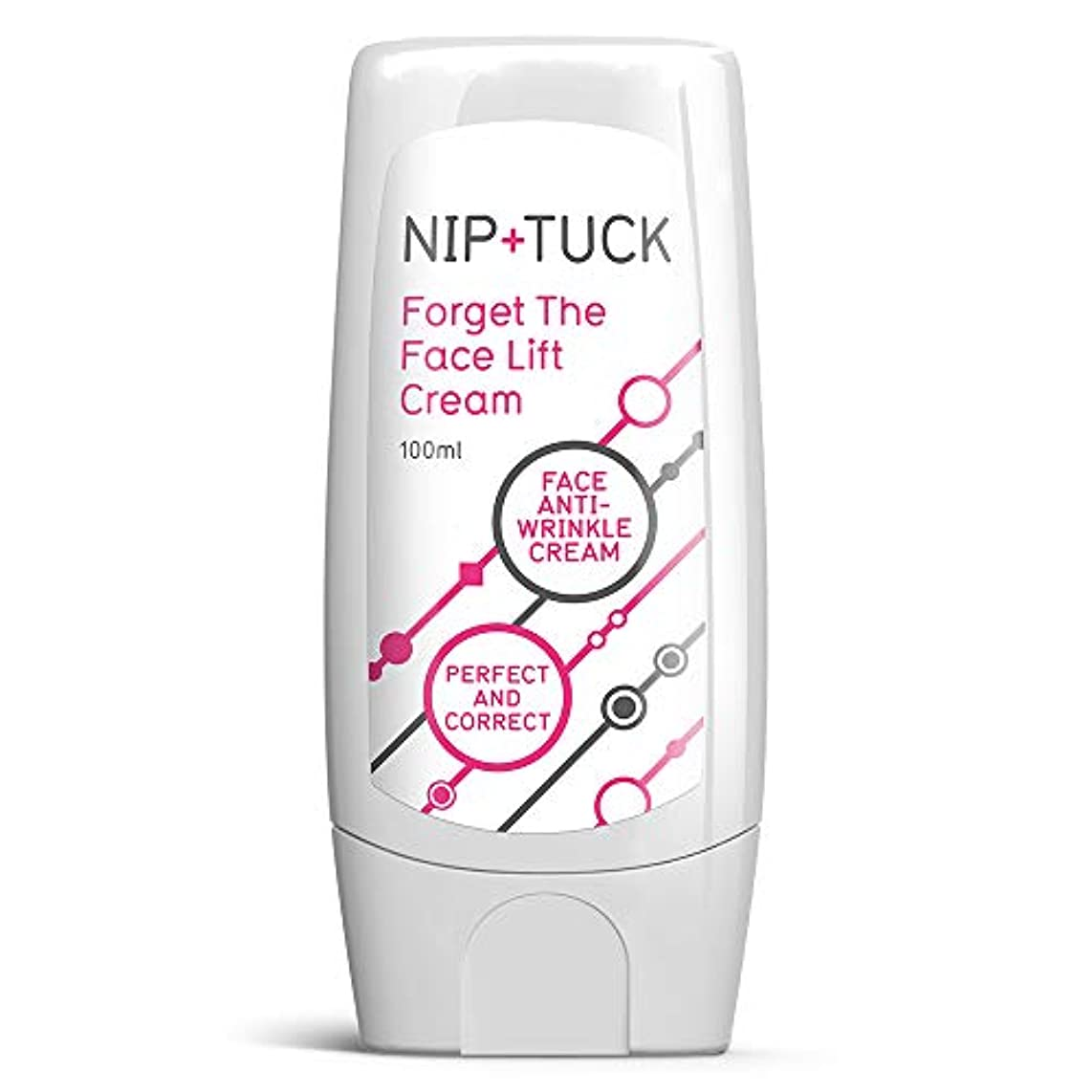 道路告白する構想するNIP & TUCK FORGET THE FACELIFT CREAM Nippu& takku wa, anchikurinkufeisu& anchirinkurukurīmufāmu& 若く見える肌を