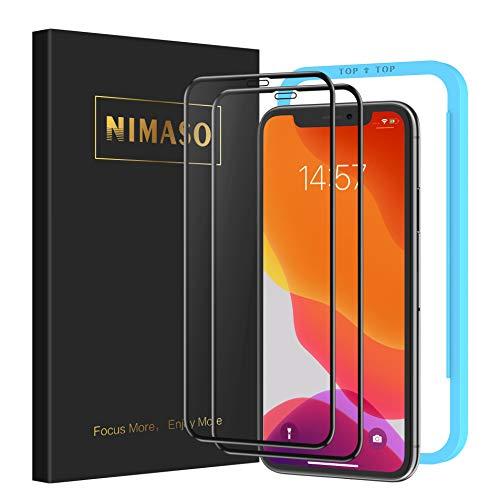 【ガイド枠付き】 【2枚セット】 Nimaso iPhone 11 / iP...