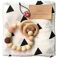 ZOO (ズー) 出産祝い 男の子 女の子 木のおもちゃ おくるみ 誕生日 プレゼント 0歳 1歳 授乳ケープ プレイマット (トライアングル)