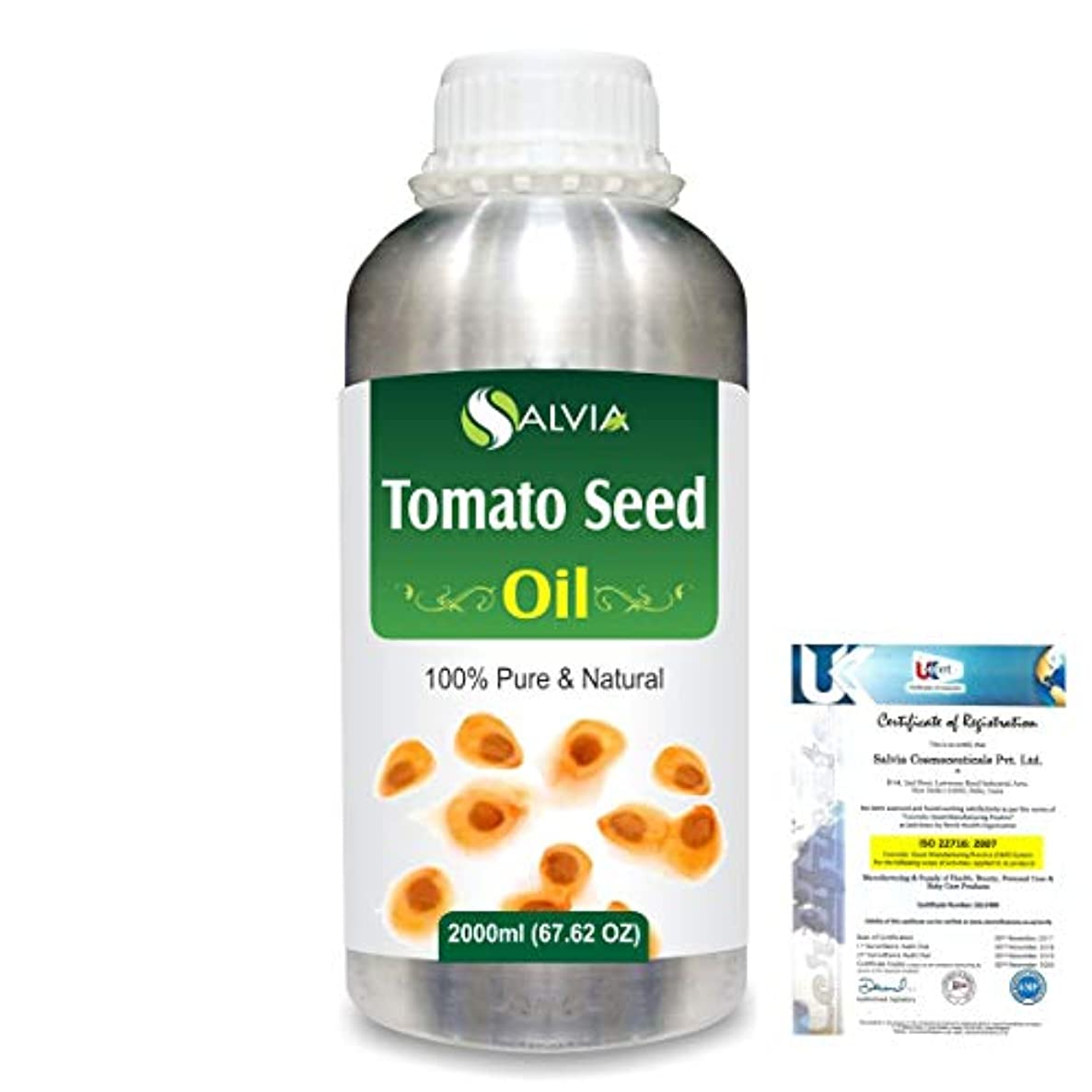 迫害腐敗法令Tomato Seed (Lycopersicon Esculentum) 100% Pure Natural Carrier Oil 2000ml/67 fl.oz.