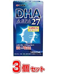 ユーワ DHA&EPA27 120カプセル×3個セット