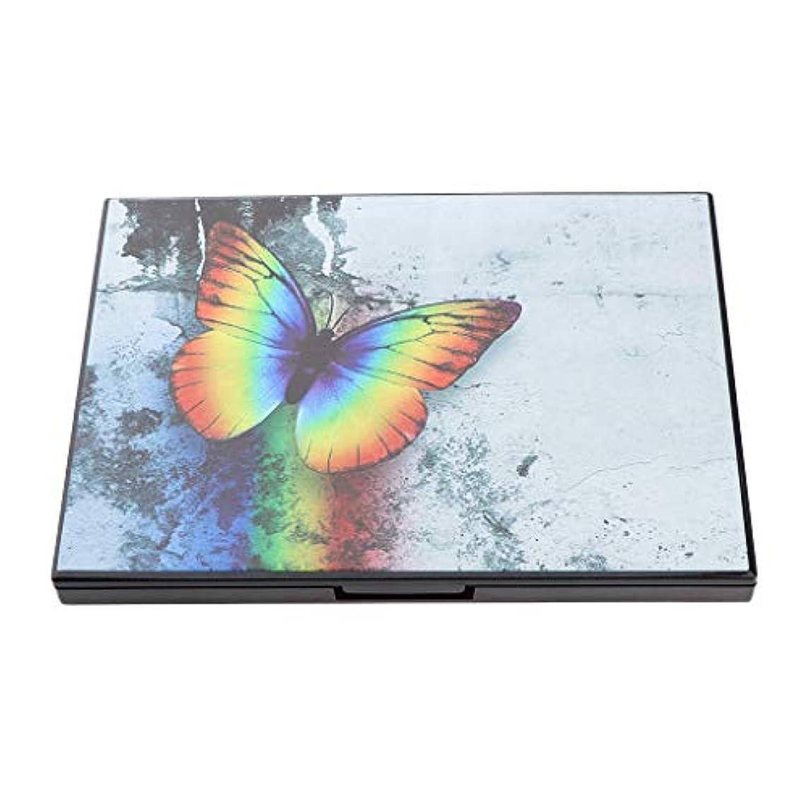 回転する影響昆虫を見る磁気パレット 手作り アイシャドウ ミラー付 パレット 旅行小物 4スタイル選べ - #1