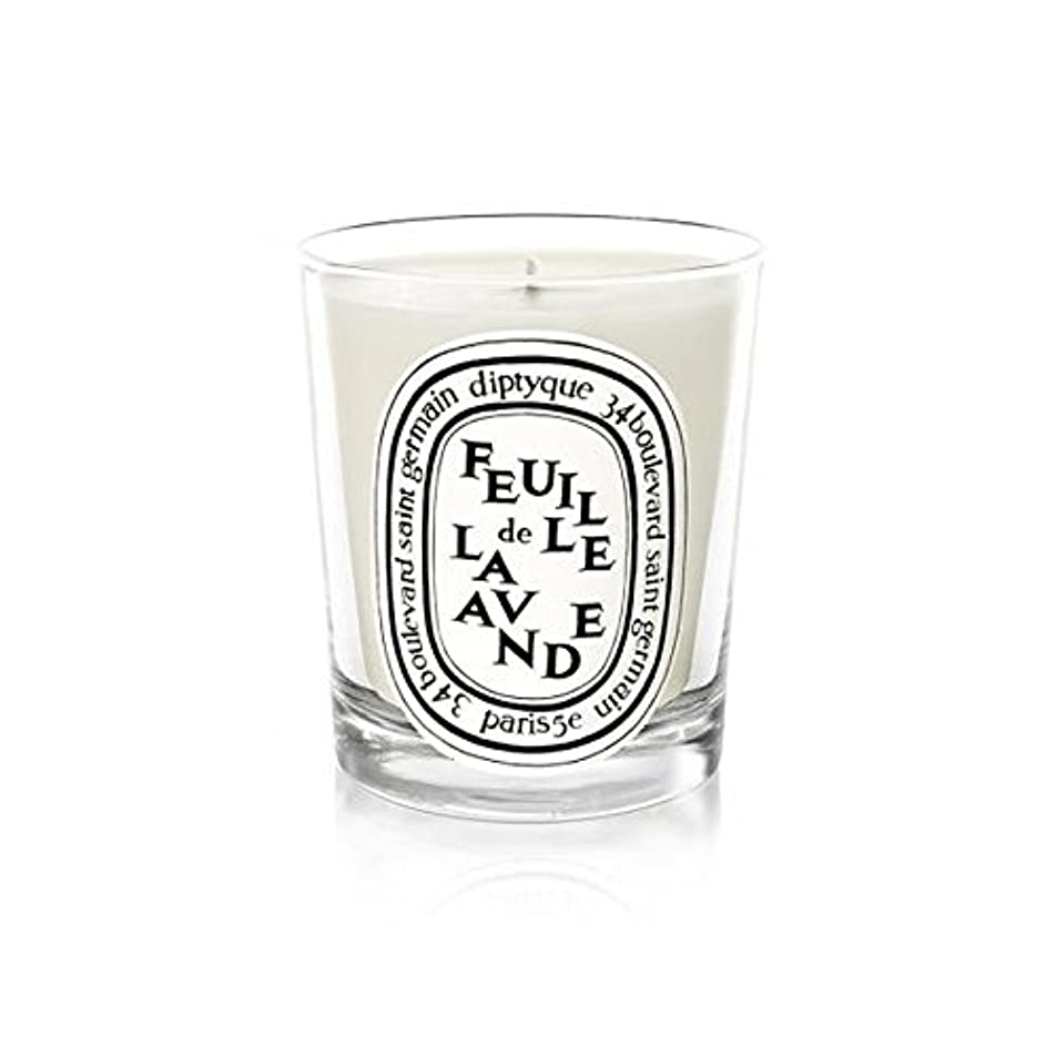 最大浸す右Diptyque Candle Feuille De Lavande / Lavender Leaf 190g (Pack of 6) - DiptyqueのキャンドルFeuilleデラバンデ/ラベンダーの葉190グラム...