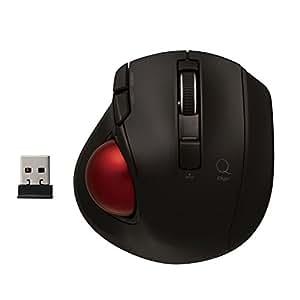 Digio2 Q 極小 トラックボール 2.4GHz ワイヤレスマウス 静音 5ボタン ブラック 48358