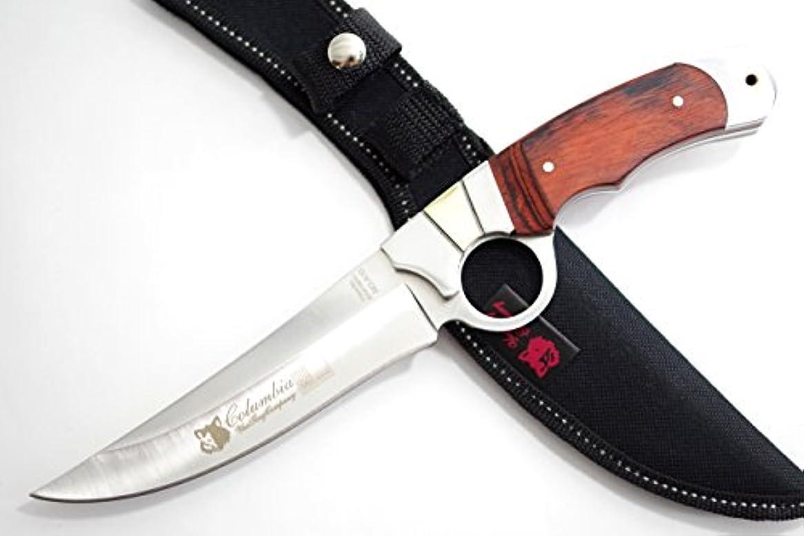闘争マニア鷲COLUMBIA KNIFE コロンビアナイフ 高品質シースナイフ 3Cr13 大型サムホール 堅牢なフルタング構造 NO.A10【並行輸入品】