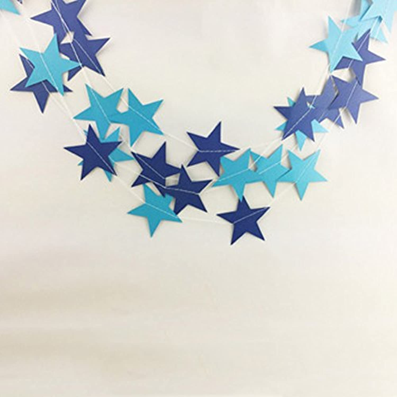 Six-Bullotime ガーランド お誕生日 飾り付け バナー 誕生日祝い パーティー デコレーション 装飾 フラッグガー 結婚式 壁飾り 人気 クリスマス 星 パターン DIY
