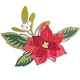Sizzix Thinlits ダイセット 13個 レイヤード クリスマスフラワー by Lisa Jones, 665342 マルチカラー