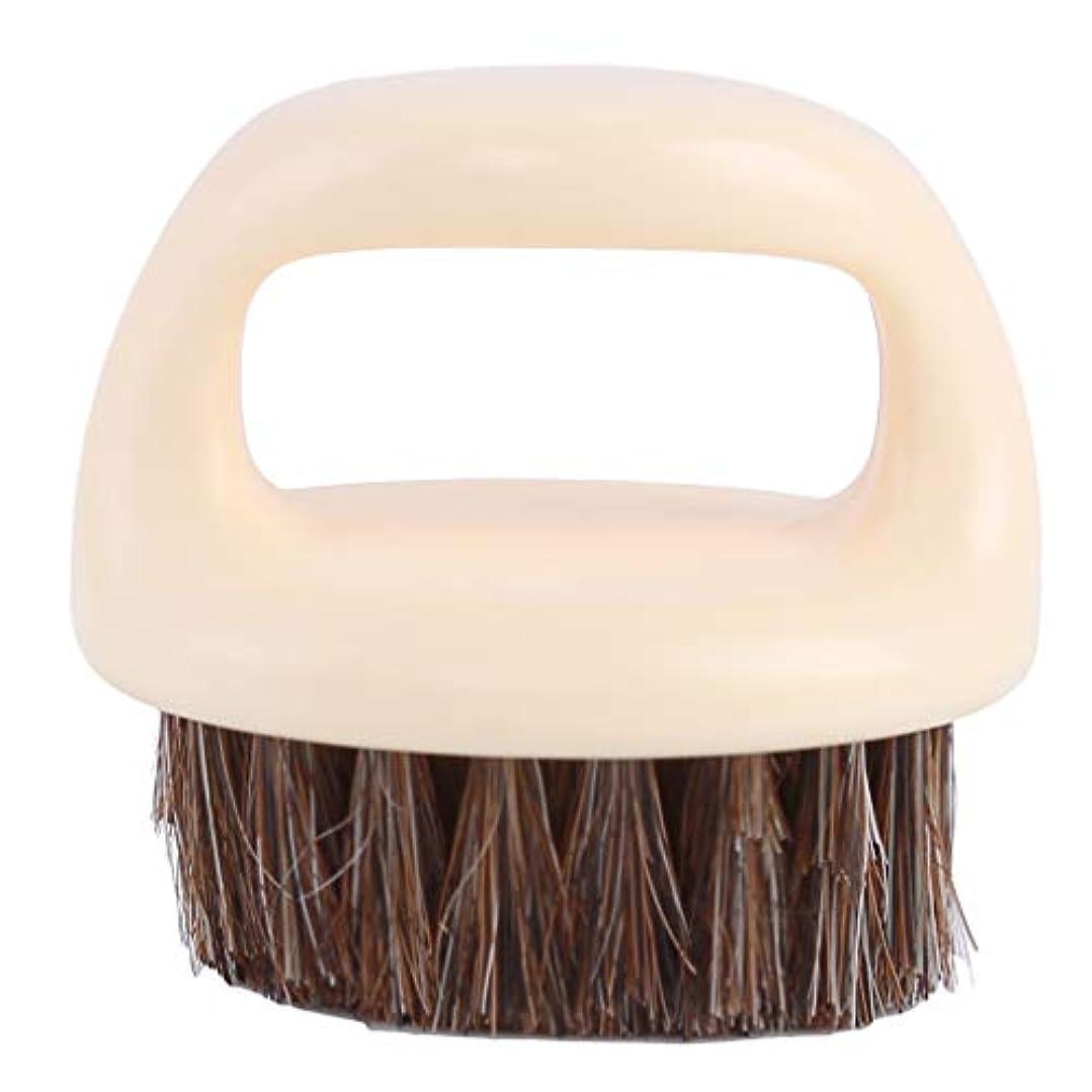 イタリアの排気交差点BEE&BLUE シェービング用ブラシ メンズ ひげブラシ 豚剛毛 ラウンド櫛 男性 理容 洗顔 髭剃り 泡立ち 洗顔ブラシ クリーニング シェービングツール
