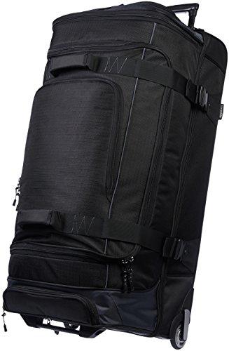 Amazonベーシック ボストンバッグ ダッフルバッグ キャスター付き 89cm ブラック