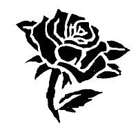 エアブラシ ボディージュエリー ヘナタトゥー用ステンシル /薔薇ST456 H10cm