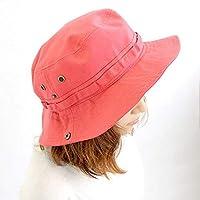 サファリハットLL コットン100% 大きめサイズ(60~62cm)  ピンク