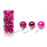 Shatterproofクリスマスボールオーナメント クリスマスツリー吊るし装飾 4CM