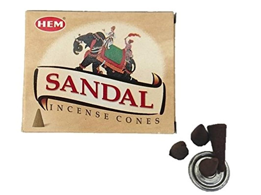 欠点サドル意志に反するHEM(ヘム)お香 サンダル コーン 1箱
