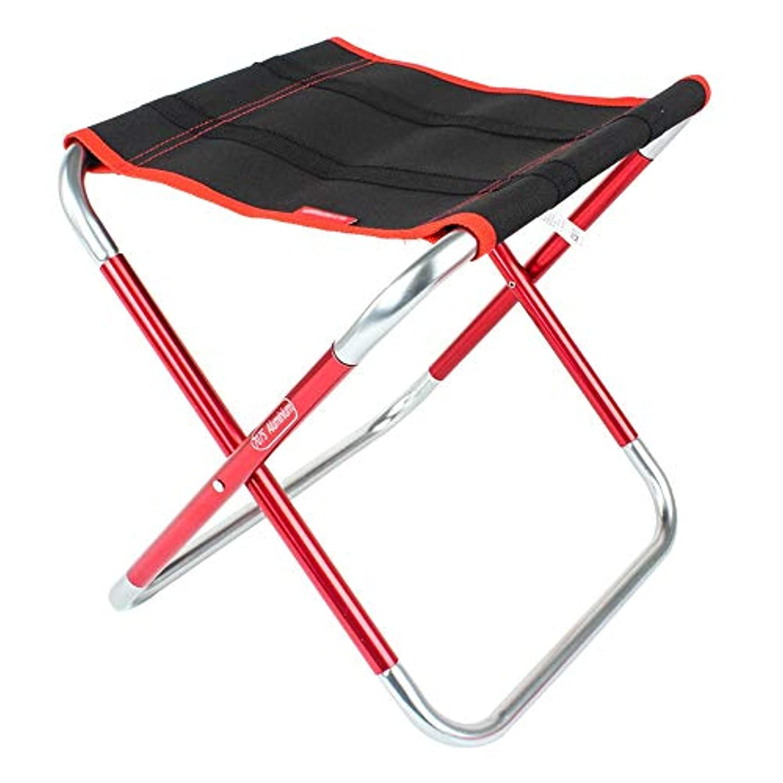 航海省縫い目アウトドアキャンプハイキングアウトドア釣りピクニックミニ折りたたみ椅子、ポータブルキャンプスツール、 アウトドア キャンプ用 (色 : 赤, サイズ : 31X25X30cm)