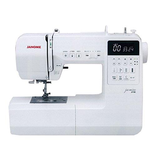 ジャノメ コンピューターミシン JF780 ジャスミン 自動糸調子や文字縫いテーブル、コントローラー、自動糸切までついた初心者でもかんたんな充実装備ミシンです