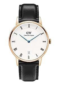 [ダニエルウェリントン]Daniel Wellington 腕時計 ダッパー 34mm Classic St Mawes ゴールド DW00100092 1131DW ブラックベルト [並行輸入品]