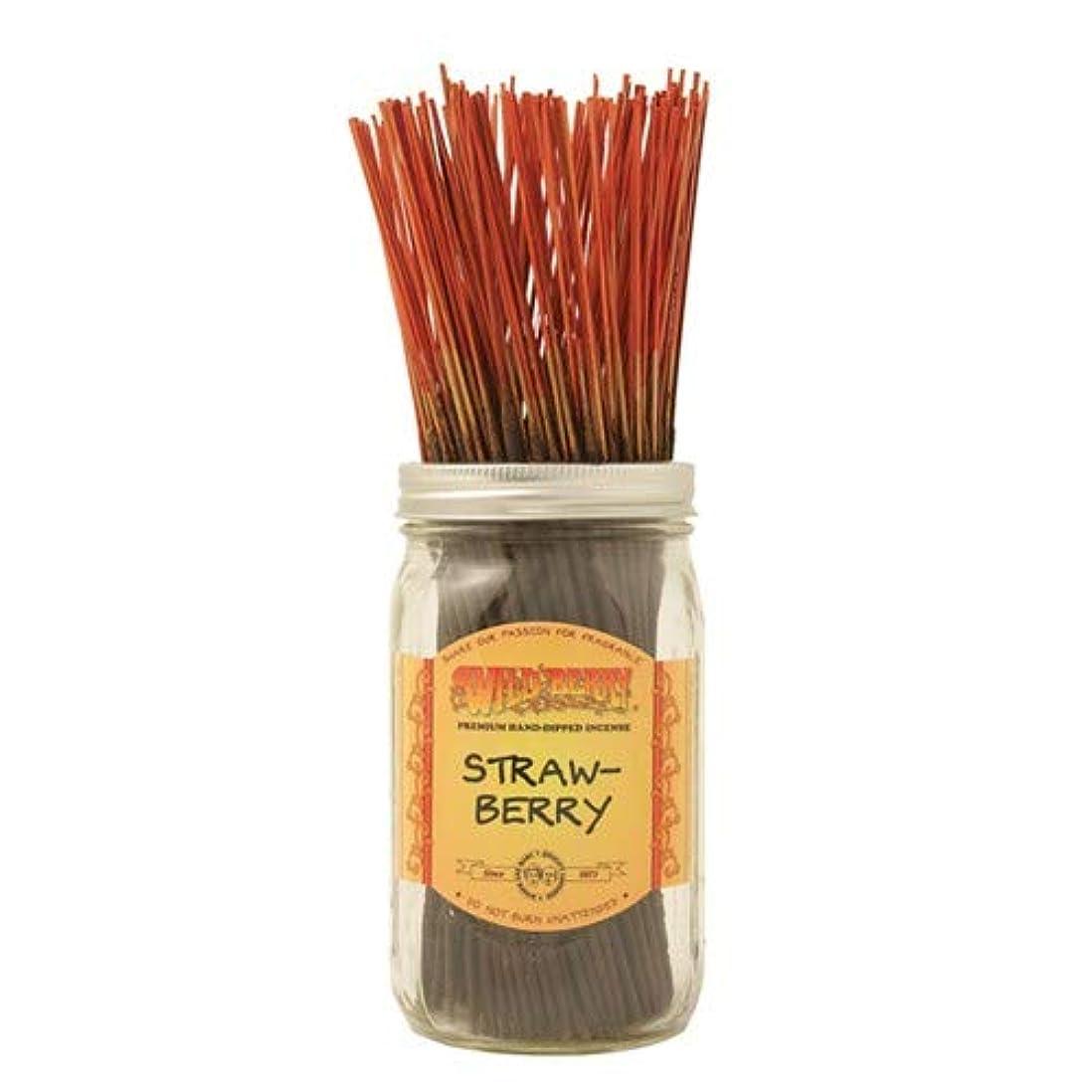 悲しいことにアマチュア付き添い人Strawberry – 100ワイルドベリーIncense Sticks