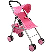 First Doll Stroller for Kids (Pink Quilted) [並行輸入品]