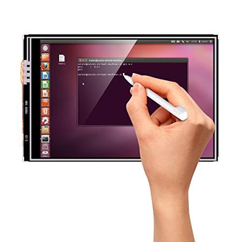 Kuman 3.5インチ Raspberry Pi ディスプレイ タッチスクリーン 320*480解像度 保護ケース Pi 3B 2B B A A B 用 SC11N