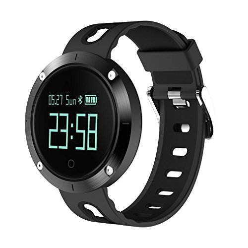 Fitness Tracker WatchChristmas JIAMEIYI IP68 Waterproof Sleep Monitor Smart Bracelet with Intelligents Heart Rate Blood Pressure Monitor for IOS and Android (black-black) [並行輸入品]