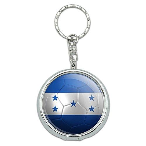 ホンジュラスの旗サッカーボールフットボルサッカー携帯灰皿キーホルダー