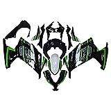 オートバイ バイク外装パーツ 適応モデル ABS樹脂 Kawasaki 川崎 カワサキ バイク フェアリング パーツセット カウル インジェクションモールド ニンジャ300 フルカウルセット オートバイフェアカバ 記念ver. Ninja300 2013 2017 (グリーン+ブラック)