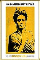 ポスター ボビー ヒル Kahlo 額装品 アルミ製ハイグレードフレーム(ゴールド)