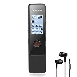 YEMENREN 8GB ボイスレコーダー ICレコーダー 録音機「大容量&高音質 1年保証&日本語説明書付き」 (黒)