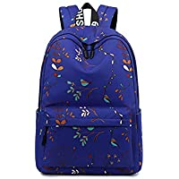 New Print Pattern School Bag, Fresh and Natural Large Capacity Schoolbag, Teen Boy and Girl Student Waterproof Breathable Light Nylon Backpack,C,L