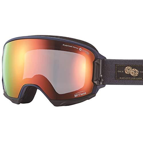 【国産ブランド】DICE(ダイス) スキー スノーボード ゴーグル ハイローラー 剥がれない MITミラー 偏光 プレミアムアンチフォグ HR80892MNV