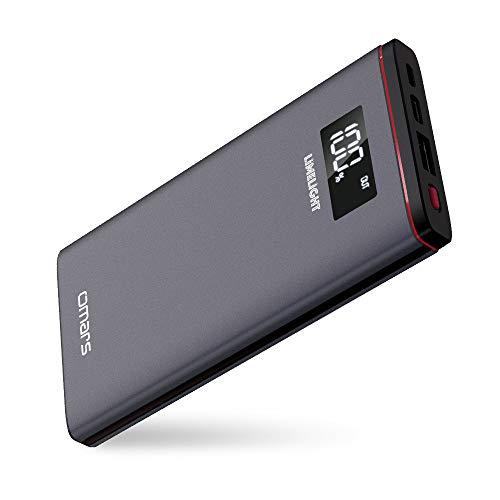 モバイルバッテリー Omars 10000mAh Type-C 18W Power Delivery 対応 充電バッテリー MacBook/ノートPC/iPhone/iPad/Androidなど対応可能 USB-Cケーブル付