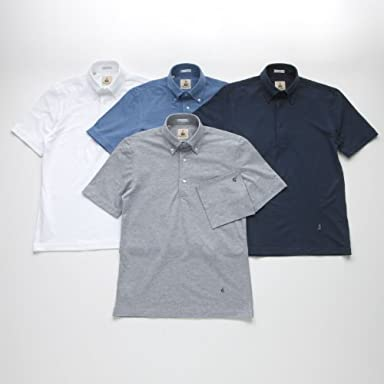 Buttondown Polo: Grey, White, Indigo, Navy