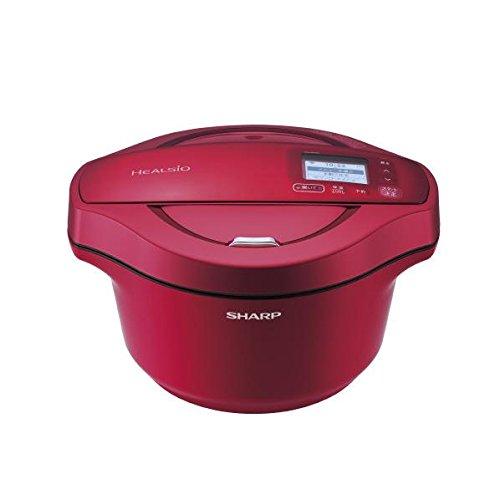 シャープ 水なし自動調理鍋 「ヘルシオ ホットクック」 (2.4L) KN-HW24C-R レッド系