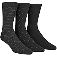 Calvin Klein Men's 3 Pack Fashion Geometric Socks